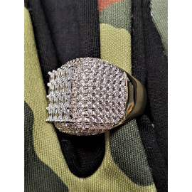 Brass AAA Grade Micro Pave CZ Ring - Gold