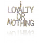 Brass Loyalty Or Nothing CZ Pendant