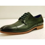 Steven Land Cap Toe Lace up in Genuine Leather with Leather Sole